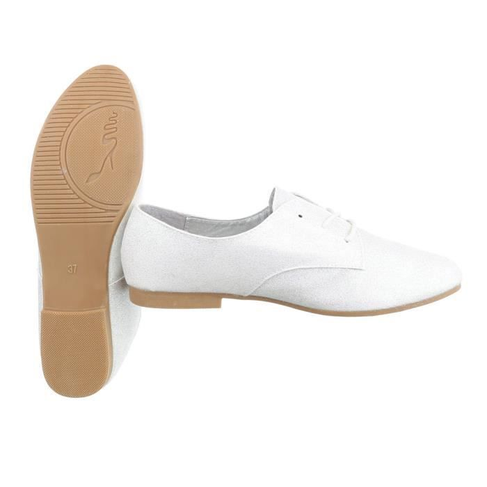 Chaussures femmes flâneurs laçage argent 41 gvKMMC9C