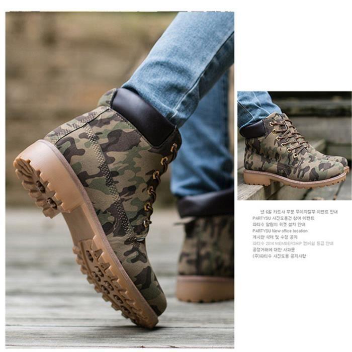 XZ030Gris44 Cuir En jr Bottines Hommes Classique Boots BYLG Peluche Martin Confortable qIwPXIWz