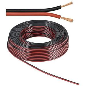 CÂBLE RÉSEAU  Alpexe® Câble d'enceinte  rouge-Noir 50 m -  ro...