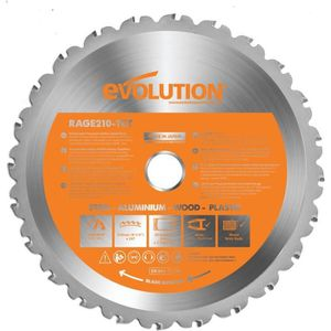 ACCESSOIRE MACHINE EVOLUTION Lame multi-matériaux Lamrage3S 210mm