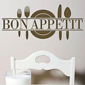 OBJET DÉCORATION MURALE Bon Appetit Art Citation Salon Cuisine mur de viny