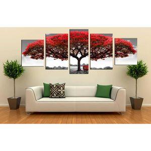 grand tableaux murale de 5 panneaux achat vente grand tableaux murale de 5 panneaux pas cher. Black Bedroom Furniture Sets. Home Design Ideas