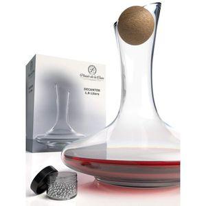 CARAFE A VIN Carafe à Décanter le Vin en Cristal - incl. Boucho