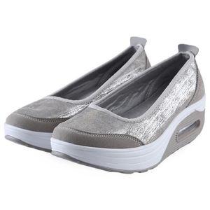 Pure Color Casual Slip à l'aise sur la plate-forme dames Chaussures IvJoe9