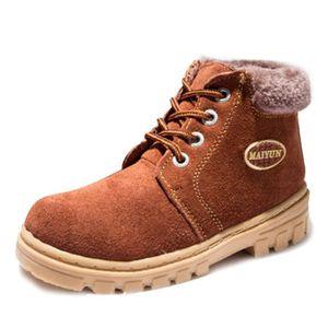 Martin Boots Enfants Hiver Garçons Fille Classique Chaussures BJYG-XZ101Noir31 75zLa