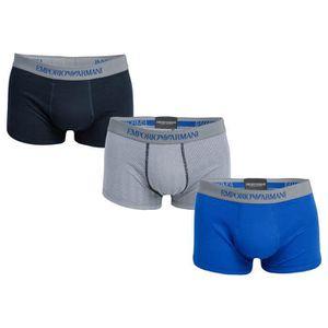 BOXER - SHORTY Lot de 3 boxers Armani pour homme en bleu.