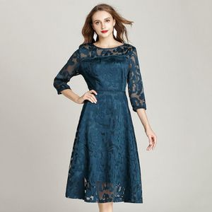 ROBE Robe Femmes Col Rond Manche Courte Lace Creux Sexy