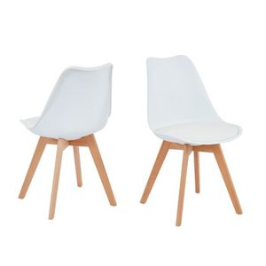 CHAISE Lot de 2 chaises coloris blanches en polypropylène