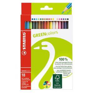 CRAYON DE COULEUR STABILO Etui carton de 18 crayons de couleur Grenn