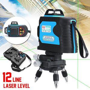 360° 12 Lignes Niveau Laser Auto Nivellement + Trépied + Télécommande Croix  Rotatif Vertical Horizontale 8c11508c2878