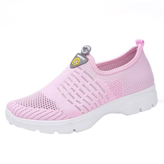 Femmes Mesh Casual Mocassins respirante Slip-on Chaussures Chaussures Soft course Chaussures Gym HX3190 Rose Rose Rose - Achat / Vente slip-on
