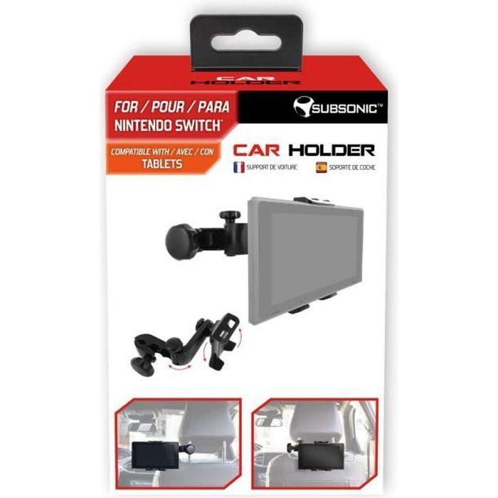 Subsonic support voiture pour nintendo switch avec inclinaison et bras articulé compatible également tablettes