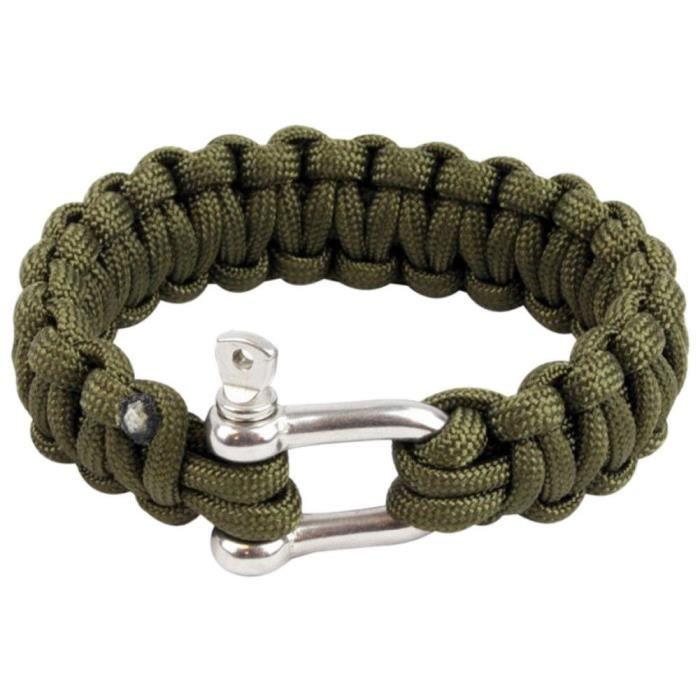 Highlander Paracord Bracelet D-Ring Olive