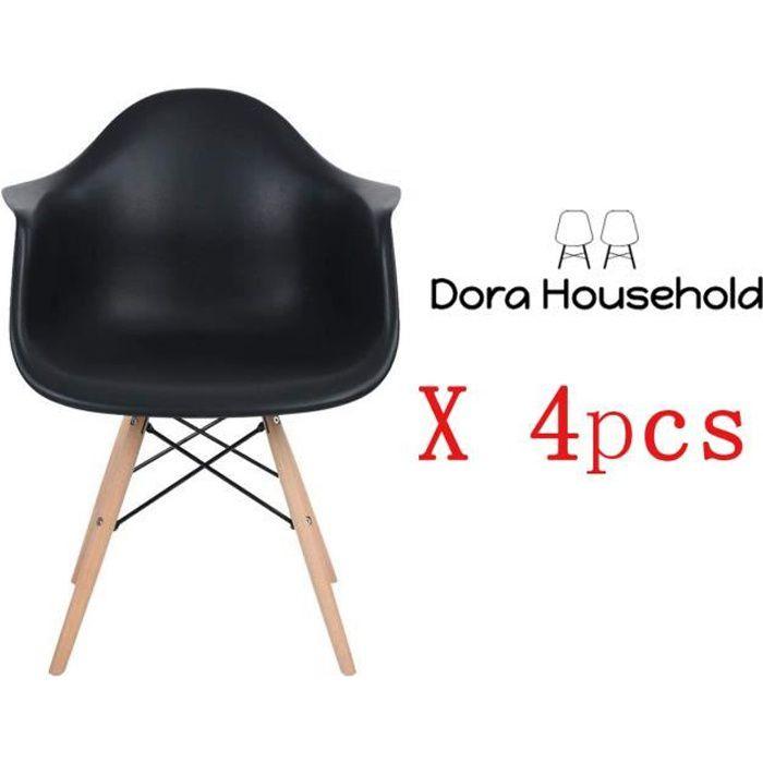 CHAISE Dora Household Lot de 4 Chaises de Salle à Manger