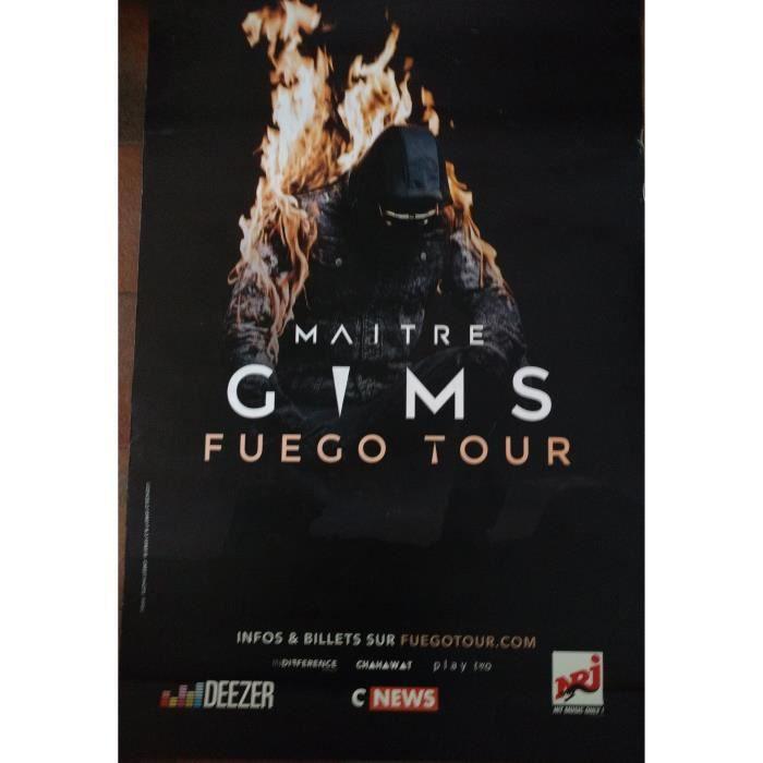 MAITRE GIMS - Fuego Tour - 80x120cm - AFFICHE - POSTER - Envoi Roulé