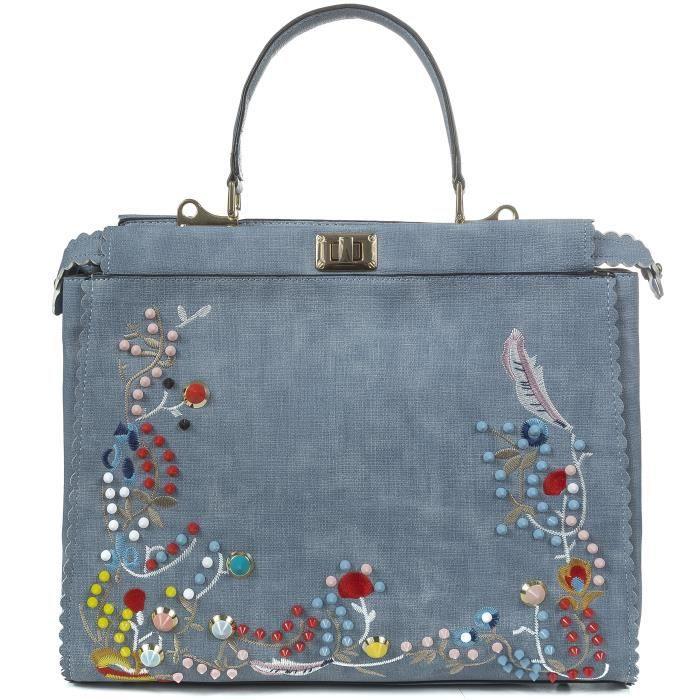 Flora Broder Sac à main Design Haut Sac à poignée faux cuir fourre-tout style sac à mainPF523
