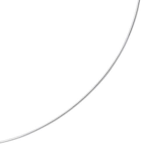 20 14 carats 1,5 mm or blanc collier Omega Ronde