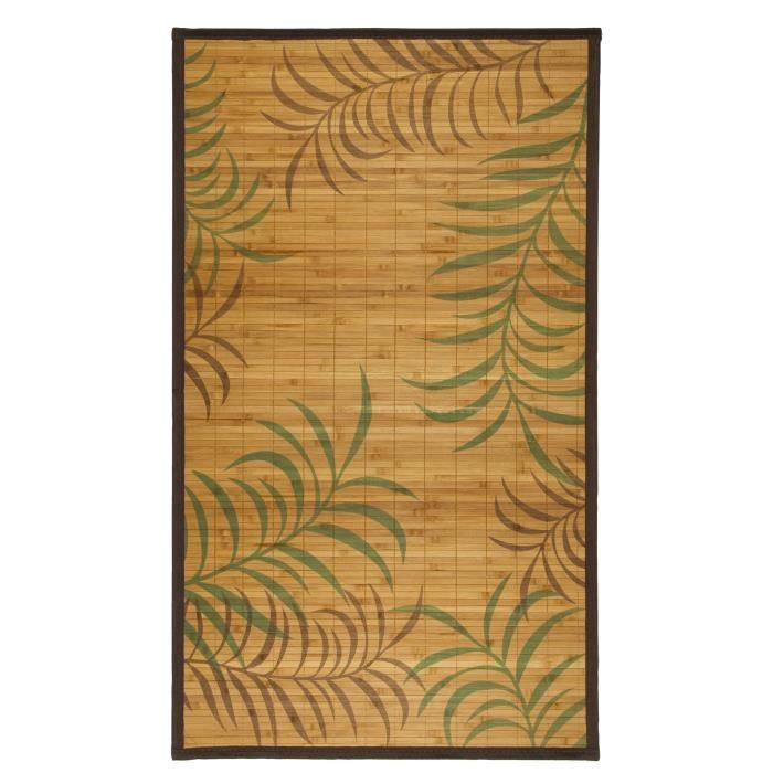 CYPRÈS Tapis 70x120cm Naturel - Bambou et bordure coton - Achat ...