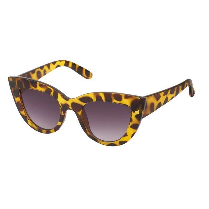 chat noir yeux style verre 7853 jaune Lunettes rétro de écaille aRqqwg