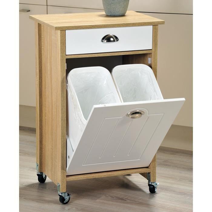 Meuble de rangement avec tiroir et 2 paniers int gr s a for Meuble salle de bain porte basculante