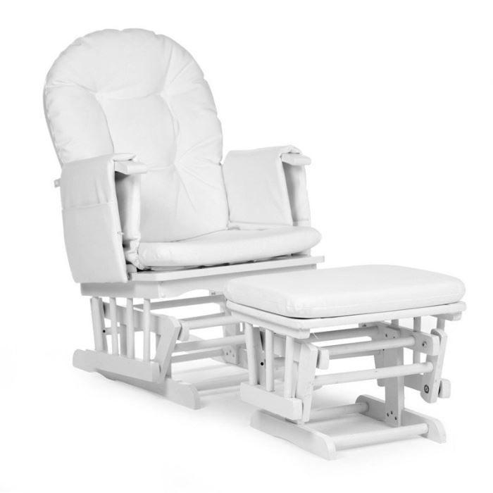Fauteuil d Allaitement Blanc Childwood Achat Vente fauteuil