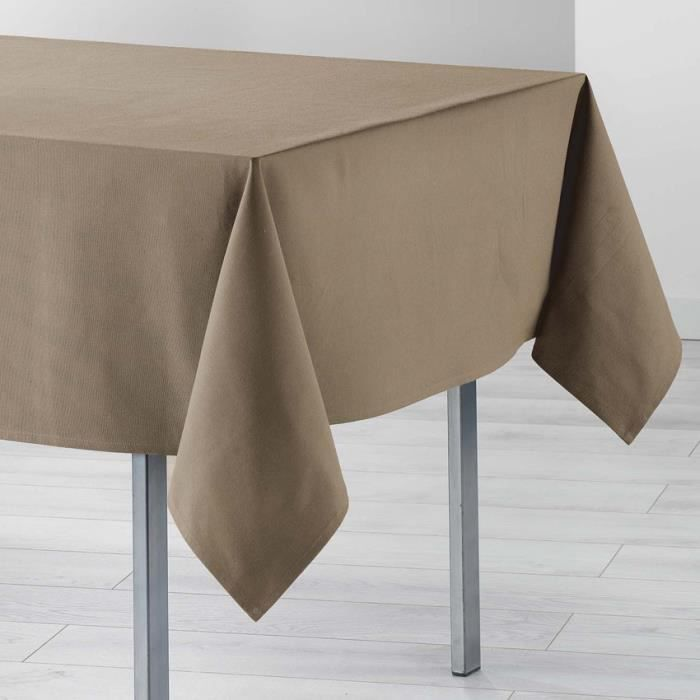 Nappe taupe rectangulaire - Achat / Vente Nappe taupe ...