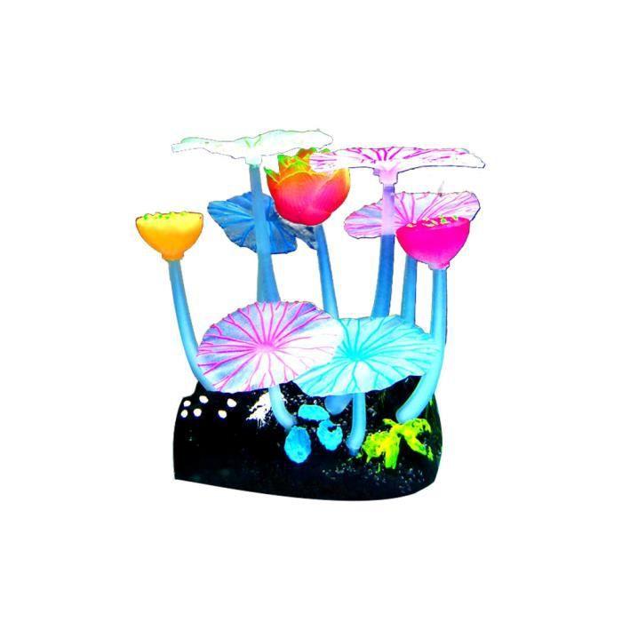 Lumière Artificielle Plante Aquatique Petite Fleur Aquarium Décoration Paysage Eau Herbe