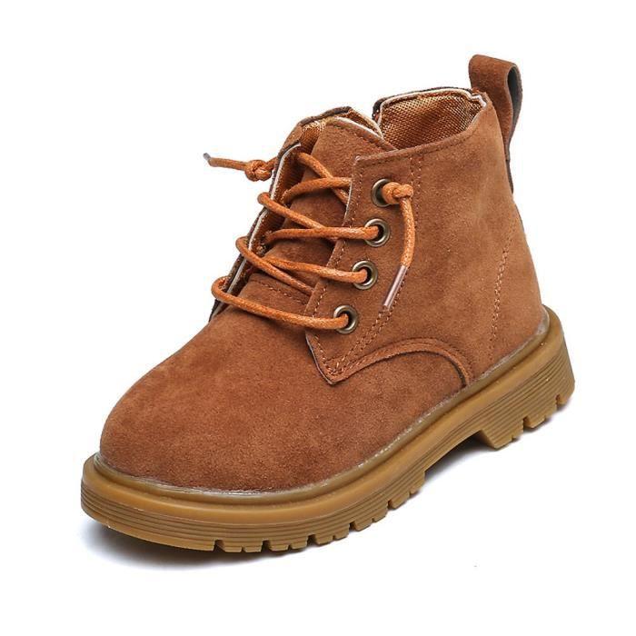 BOTTE Garçons Filles Mode Enfants Chaussures Bébé Martin Bottes Casual Enfants Bottes Chaussures@Jaune gAfL8H6Or