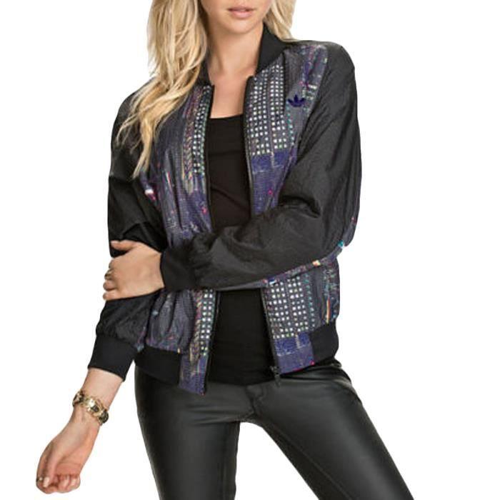 Adidas - veste de survêtement femme - noir Noir Noir - Achat   Vente ... 4dd28beaff0