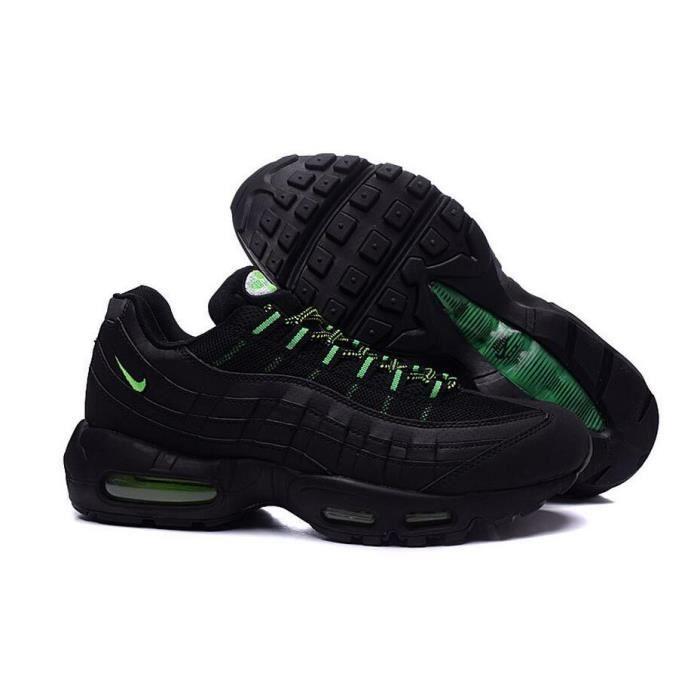 newest 918f0 41555 Nike Air Max 95 OGQS Homme Running Basket Chaussure Noir et Vert