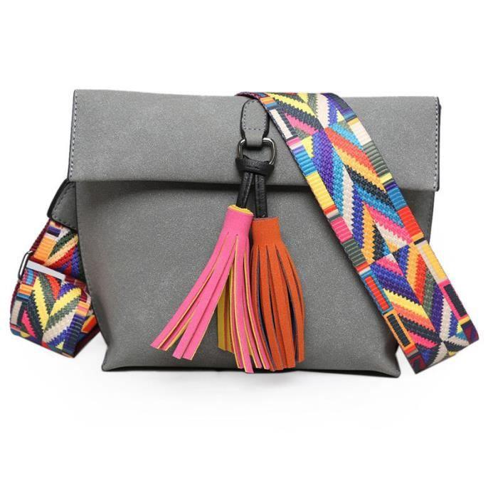 Bag Femmes Messenger Tassel Conception Et Bandoulière Colorée Avec qUzMVpS