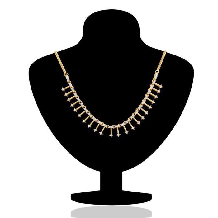 Plaqué or Oviya des femmes Enigmatic Rendition avec pendentif en cristal Pour Ps2193016g ESME6