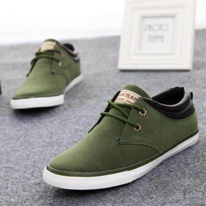 skate chaussures mais suède Vert