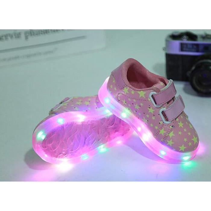 2017 nouvelle LED lumineux pour enfants Chaussures de sport