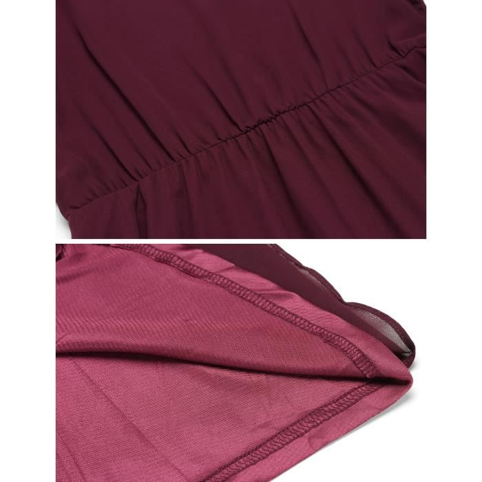 Robe en mousseline de soie Manteau à volants décontracté pour femme