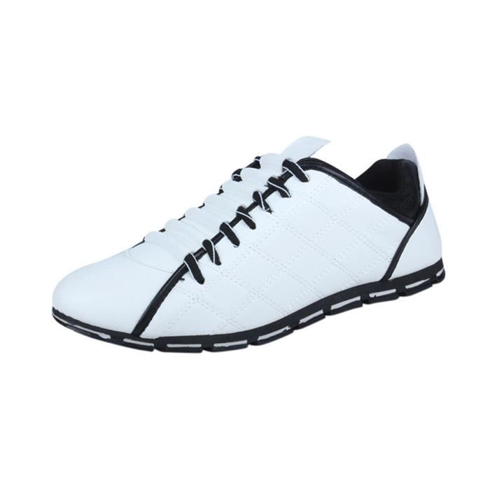 Style Confortable Hommes WE827 Casual Respirant Cuir Mode Sneakers Chaussures Nouveau Plates blanc pwqRX7R