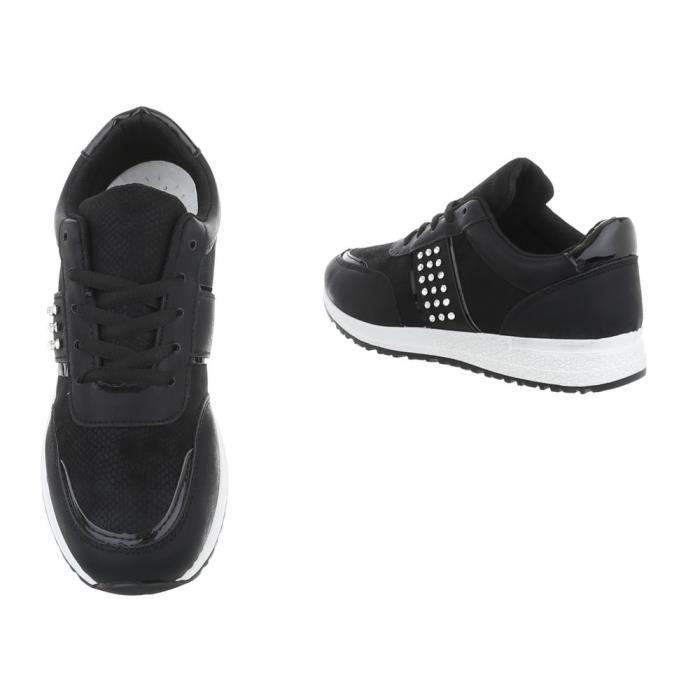 Foncé noir Clair or Des rose Baskets Clair Chaussures 36 Femme vert bleu Clair Blanc gris gris Noir Sneakers beige bleu aUWzfq