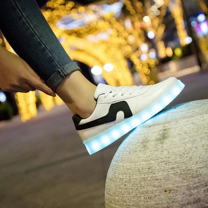 Usb Sport Sneaker Led Unisexe yini6088 Lacent De Casual Charge Chaussures Lumineux 4R5gxOPwq