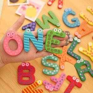 TENTE TUNNEL D'ACTIVITÉ 26 lettres en bois aimant pour réfrigérateur Carto
