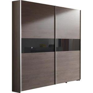ARMOIRE DE CHAMBRE Armoire 200x216 cm à 2 portes coulissantes coloris