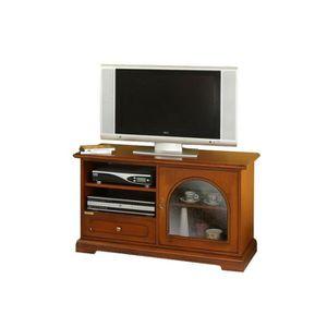 Meuble tv vitre achat vente meuble tv vitre pas cher for Meuble tv avec porte vitree