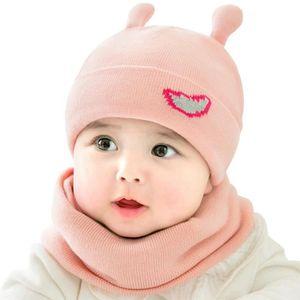 899de372816f BONNET - CAGOULE MOGOI Bonnet bébé tricot chapeau hiver doux avec É ...