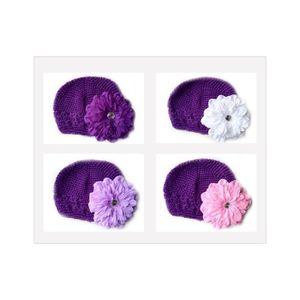 51e344465abb BONNET - CAGOULE Bonnet au crochet 100% coton, couleur violet +barr
