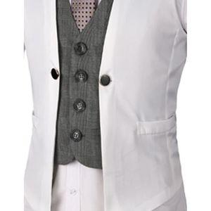 bafa7b3de7f5 Boom Fashion Slim fit plaid Gilet Veston Veste Costume Sans Manches Homme  Branché(chemise Non inclus)