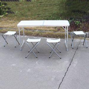 TABLE ET CHAISES CAMPING Table De Camping Pliable Reglable En Hauteur 120x6