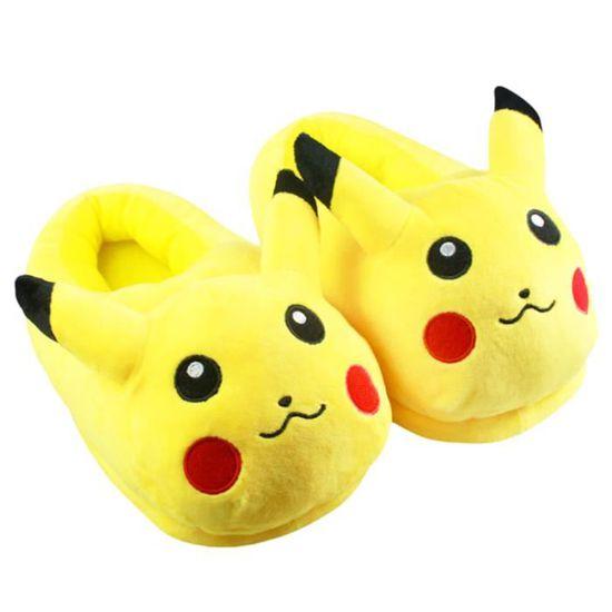 Populaire De Cadeaux Peluche xz137jaune39 En Pantoufles Chausson D'intérieur Femme Bbzh Halloween Noël Hiver Pokemon Homme 35qcL4AjR