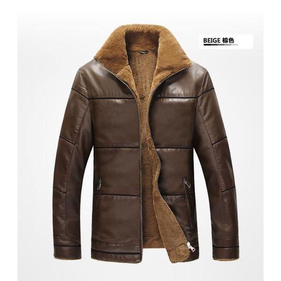 Homme Manteau Standup Vêtement De Plus Mode La Simili Et Velours Masculin En  Cuir A Col SEWZqrfSw d3f4487bc7c