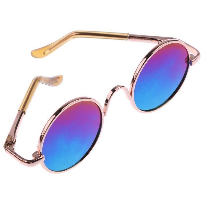 6d25cb6a6d187 POUPEE Lunettes de lunette ronde en or hippy gold pour lunettes arc-en-ciel  de 1-6 blythe