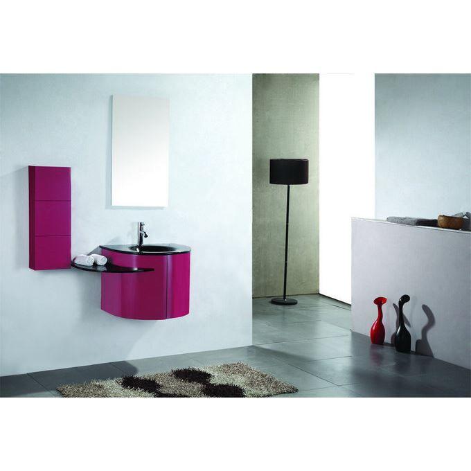 Meuble Salle de bain Design ROSE Vasque verre 60cm - Achat / Vente ...