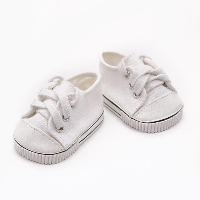 9d2fca3ec9df2 Mignon 18 Pouces Bébé Né Poupée Chaussures Pour Fille Américaine Bébé Né  Poupée Vêtements Accessoires De Mode Sneakers À La Main